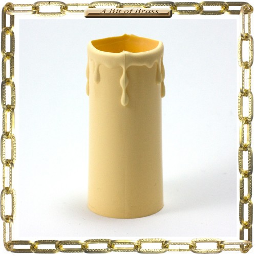 34 x 80mm Cream Thermoplastic Candle Cover