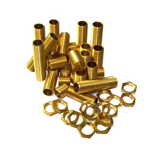 "1/2"" Solid Brass All thread Nipples Assorted Pack Medium"