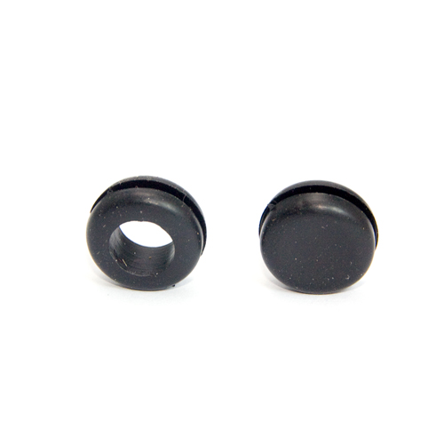 10mm Black Through or Blank Panel Grommets Pack of 10