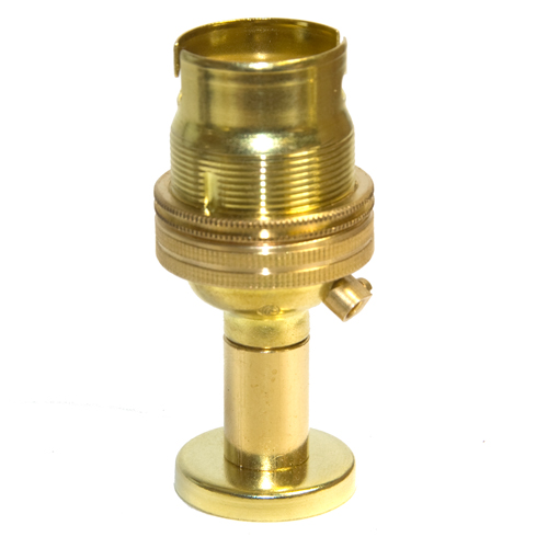 10mm Entry Solid Brass Finish BC Lampholder c/w Pedestal