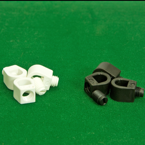 2 - Part Grub Screw Plastic Cord Grip Collars Black or White