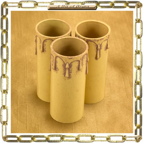 27 x 70mm Antique Thermoplastic Candle Cover Packet 3