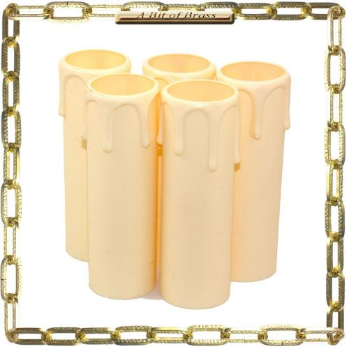 27 x 90mm Ivory Thermoplastic Small Candle Cover