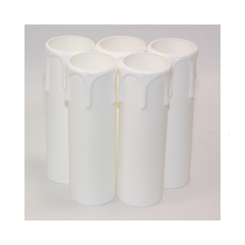 27 x 90mm White Thermoplastic Small Candle Cover