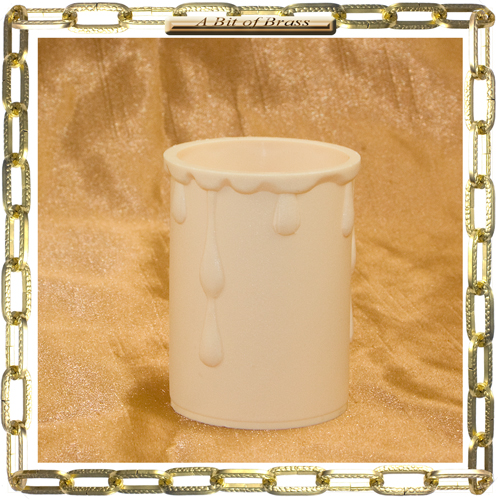 33 x 50mm Cream Coloured Thermoplastic Candle Cover