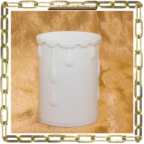 33 x 50mm White Coloured Thermoplastic Candle Cover