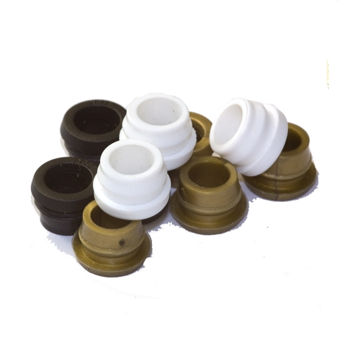 9.5mm Waist Coloured Nylon Cable Grommets for Lamp Base Cable Entry