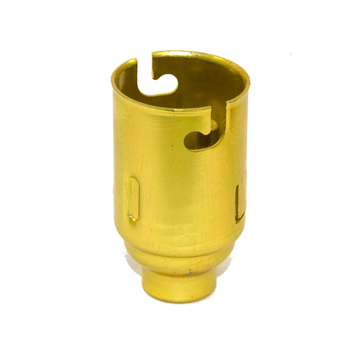 Aluminium BC (B22) Brass Colour Lampholders 10mm Entry No Earth Packs of 5