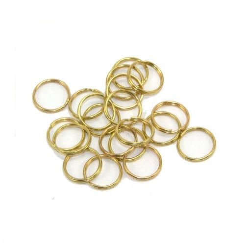 Brass Plated Split Rings Pack of 20