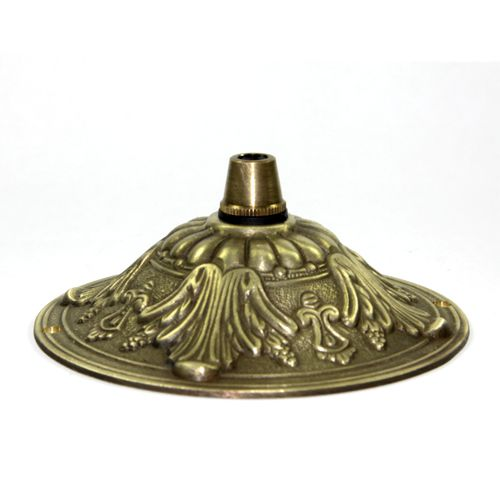 Fancy Solid Brass Antique Finish Cordgrip Ceiling Rose Plate for Chandeliers