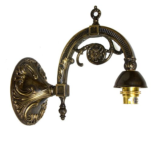 Fancy Solid Brass Wall Bracket BC Fit Antique Finish