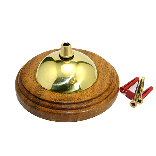 Iroko Pattress Cordgrip Ceiling Plate Assembly Solid Brass Polished Finish