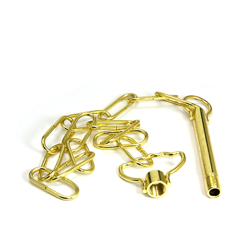 Job Lot of 5 Brass Plated Steel Suspension Loops c/w Chain and Balance Loops Blemished Bargain