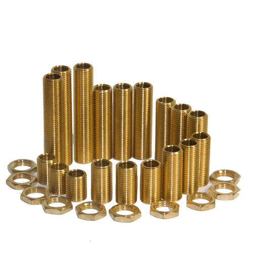 M10 Solid Brass All thread Nipples Assorted Pack Small