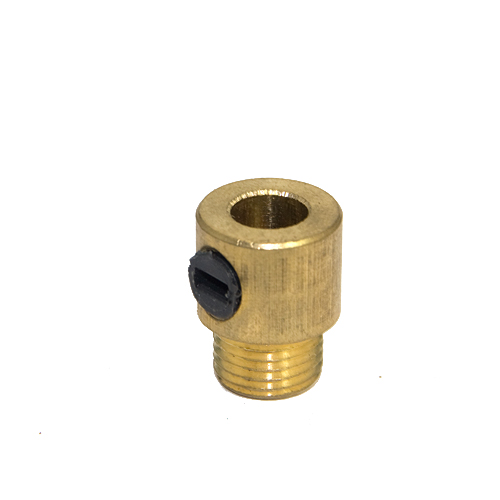 M10 x 1mm Pitch  Male Solid Brass Grub Screw Cord Grip