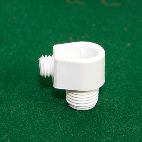M10 x 1mm Pitch White Nylon Male Pillar Cable Gland Pack 3