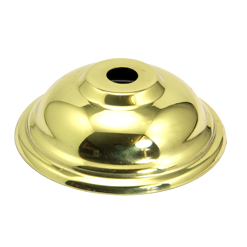 Polished Sold Brass Beaded Lampholder Sconce Cover 70mm Diameter