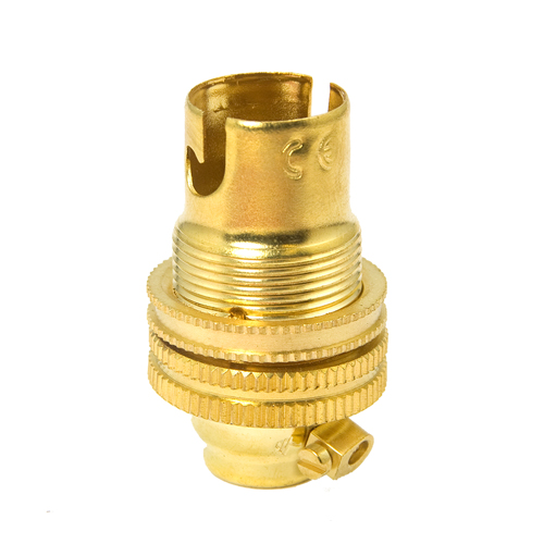 Quality Solid Brass SBC (B15) Candle Lamp Bulb Lampholder 10mm Entry