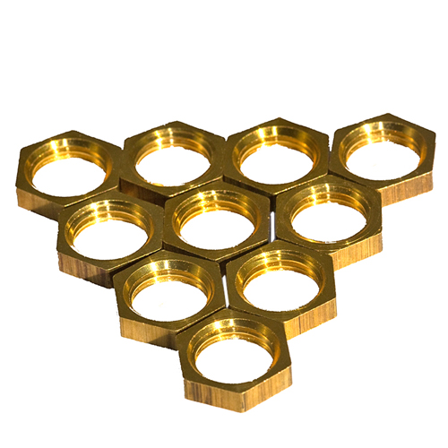 Solid Brass 1/2'' x 26tpi Hexagon Thin Nuts Pack of 10