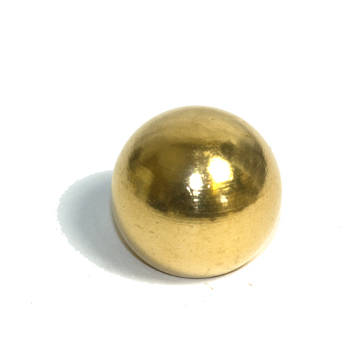 Solid Brass 19.75mm Diameter Ball Finial M10 x 1mm Pitch Thread