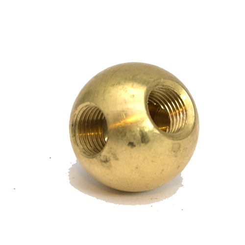 Solid Brass 25mm Ball Finial 90 Degree Angled 10mmThreads