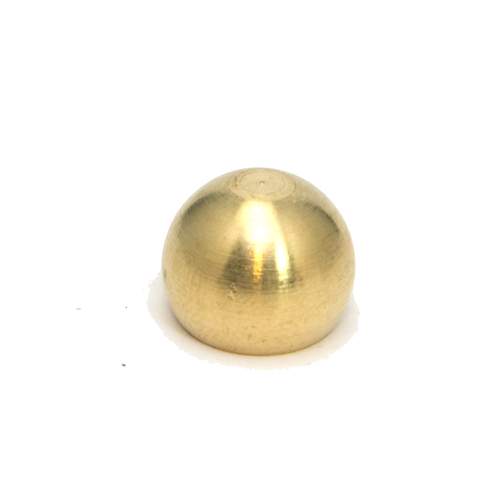 Solid Brass Ball Finial Approx. 9/16'' Diameter M10 x 1mm Pitch Thread