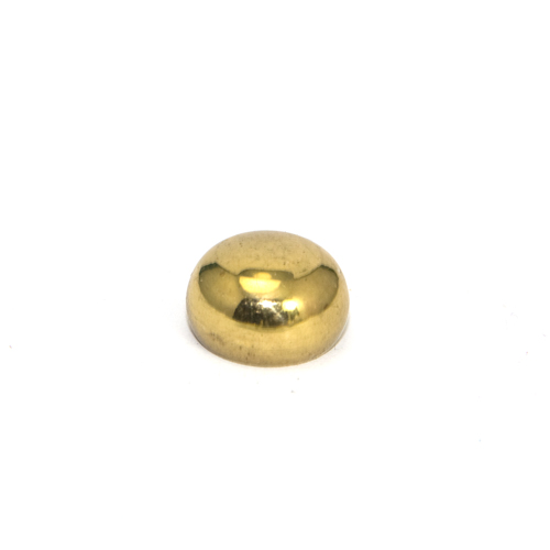 Solid Brass Button Finial 13.5mm Diameter M10 x 1mm Pitch Thread