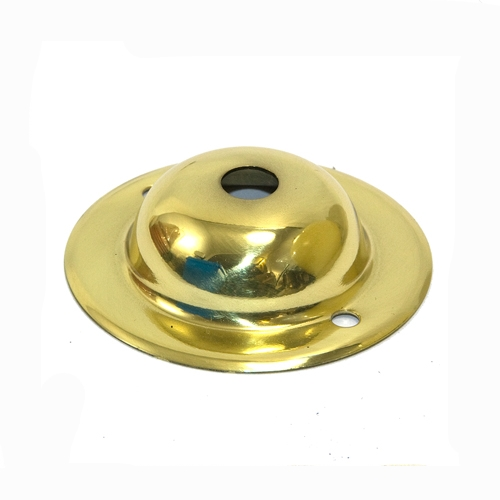 Solid Brass Ceiling or Wall Plate 10.2mm Hole polished Finish