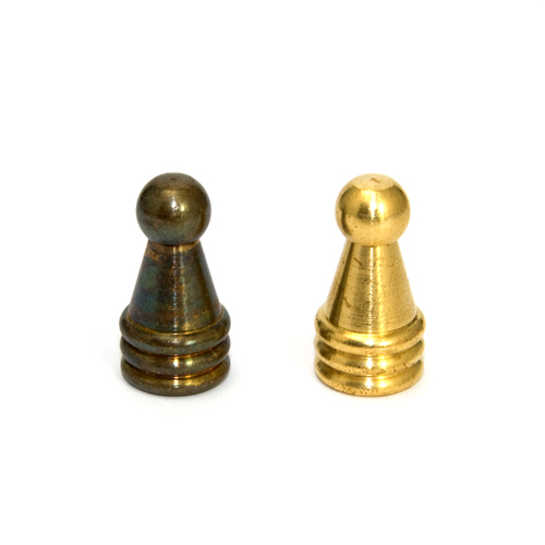 Solid Brass Fancy Finial 10mm thread