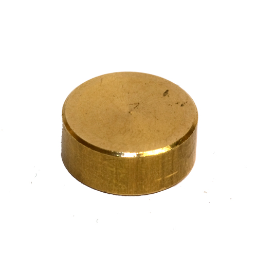 Solid Brass M10 x 1mm Pitch 15mm Diameter Flat Button Finial