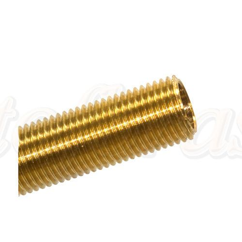 Solid Brass M10 x 1mm Pitch All-thread Nipples Various Lengths Packets of 3